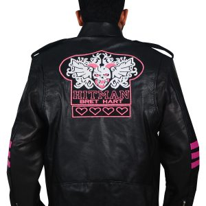 WWE Bret Hitman Hart Leather Jacket