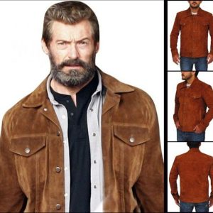 The Wolverine 3 Hugh Jackman Suede Brown Jacket