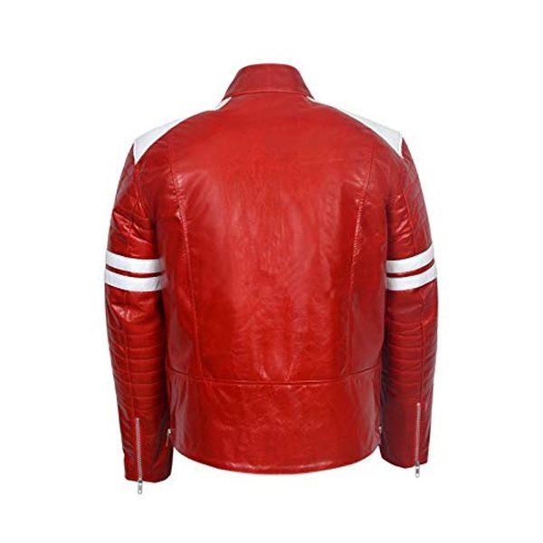 FIGHT CLUB BRAD PITT RED/WHITE MAYHEM JACKET