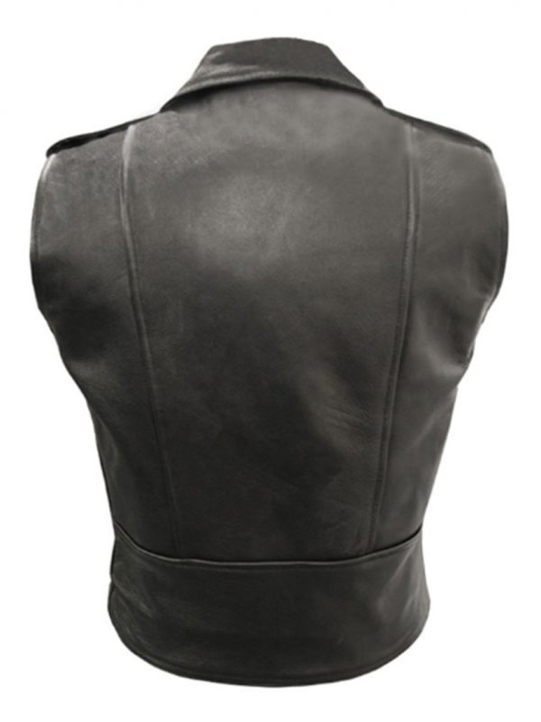 MIGUEL JONTEL PIMENTEL MALE SLEEVELESS BLACK JACKET VEST