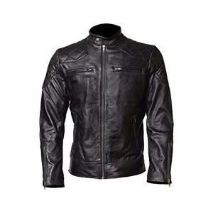 DAVID BECKHAM BLACK LEATHER JACKET ON BELSTAFF LAUNCH