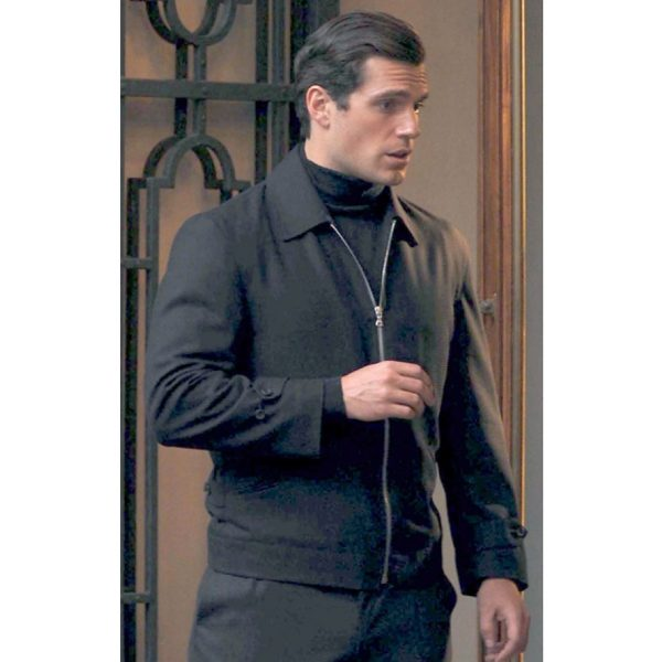 MAN FROM U.N.C.L.E. MOVIE HENRY CAVILL BLACK JACKET