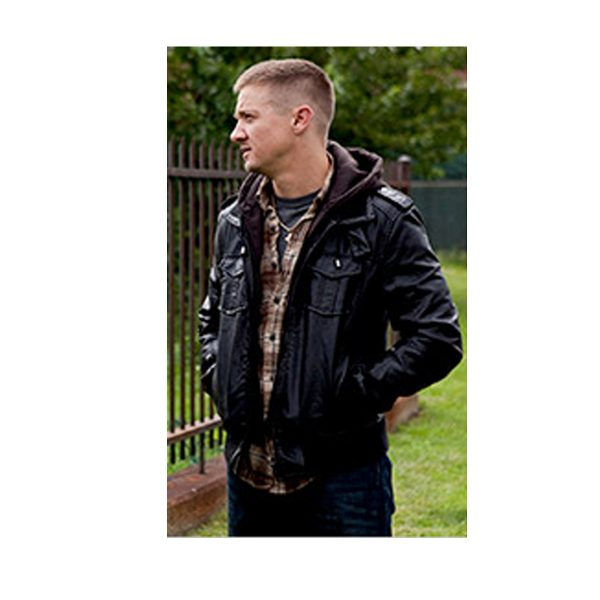 THE TOWN MOVIE JEREMY RENNER BLACK LEATHER JACKET