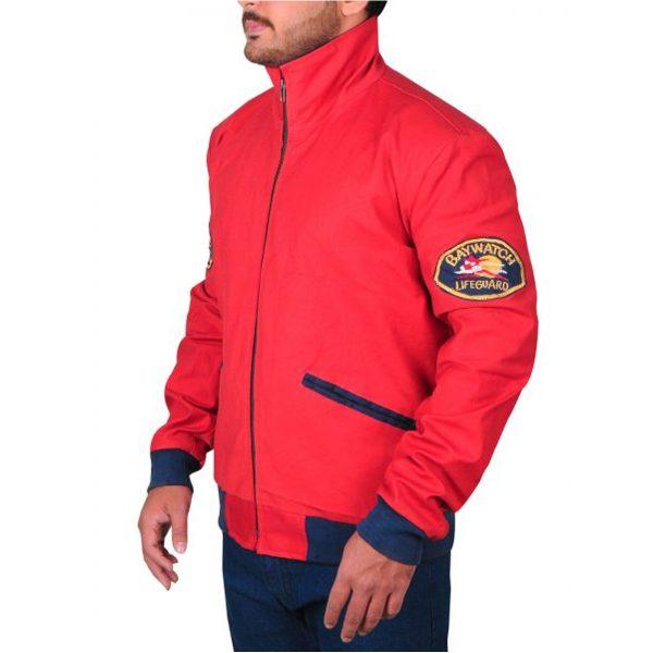 Baywatch Dwayne Johnson (Mitch Buchannon) Red Jacket