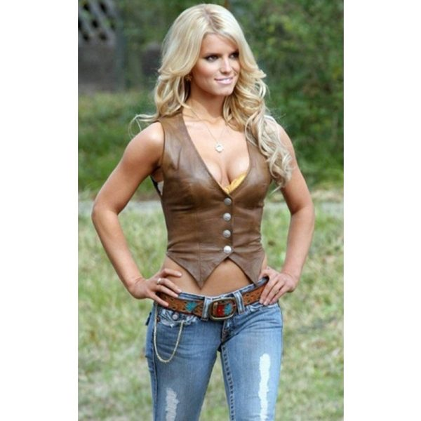 THE DUKES OF HAZZARD DAISY DUKE LEATHER VEST
