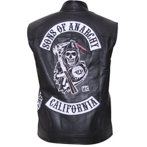Charlie Hunnam Jax Sons Of Anarchy Teller Leather Vest With Patches