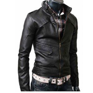 Slim-Fit-Belted-Rider-Black-Biker-Leather-Jacket