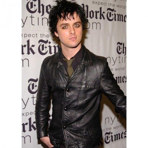 Billie Armstrong Black Leather Jacket Joe