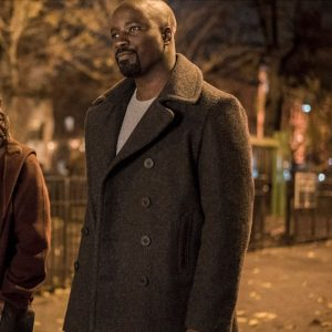 Luke Cage Mike Colter Black Woolen Long Coat