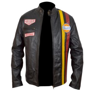 Steve Mcqueen Le Mens Leather Jacket