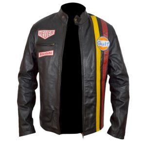 Steve Mcqueen Le Mens Leather Jacket