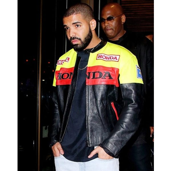 Aubrey Drake Graham Honda Biker Leather Jacket