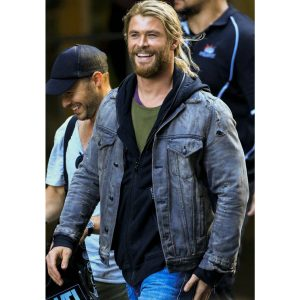 Thor Ragnarok Chris Hemsworth Denim Jacket