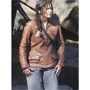 Hunger Games Catching Fire Jennifer Lawrence Brown Jacket