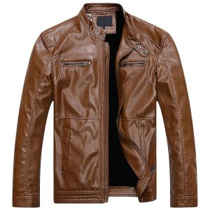 COPPER VINTAGE CLASSIC DISTRESSED BROWN LEATHER JACKETET