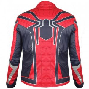 STYLISH SPIDER MAN RED LEATHER JACKET