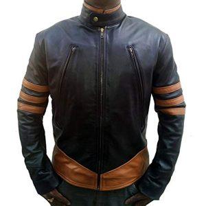 X-Men Origins Black Wolverine Leather Jacket