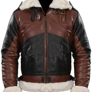 B3 Bomber Men's Dark Brown Leather Jacket