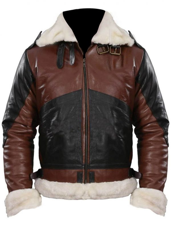 B3 Bomber Men's Dark Brown Leather Jacket