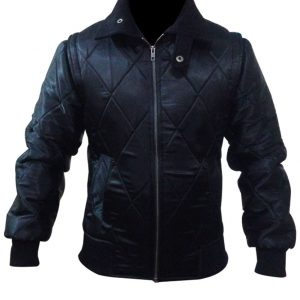 Women Style Drive Scorpion Black Satin Jacket