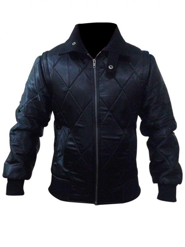 Women Style Drive Scorpion Black Satin Jacket