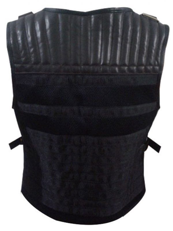 Expendables 3 Sylvester Stallone (Barney) Leather Vest Jacket