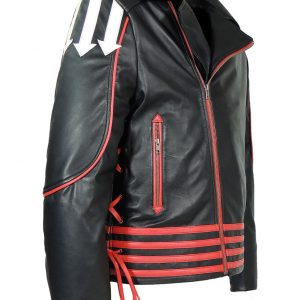 Freddie Mercury Red And Black Leather Jacket