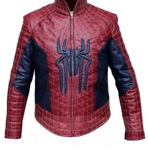 Shop-Best-seller-Spider-logo-Leather-Jacket-Spiderman-Inspired-Red-Leather-Jacket-Costume-Uk-USA-Canada-image-1