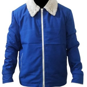 The Drop Tom Hardy Blue Cotton Jacket.