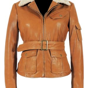 Shop-Most-Wanted-Brown-Fur-Leather-Jacket-Night-at-the-Museum-Amelia-Earhart-Brown-Jacket-UK-USA-Canada-image-2