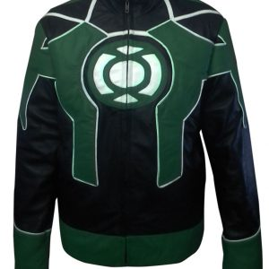 Green Lantern Cosplay Biker Leather Costume