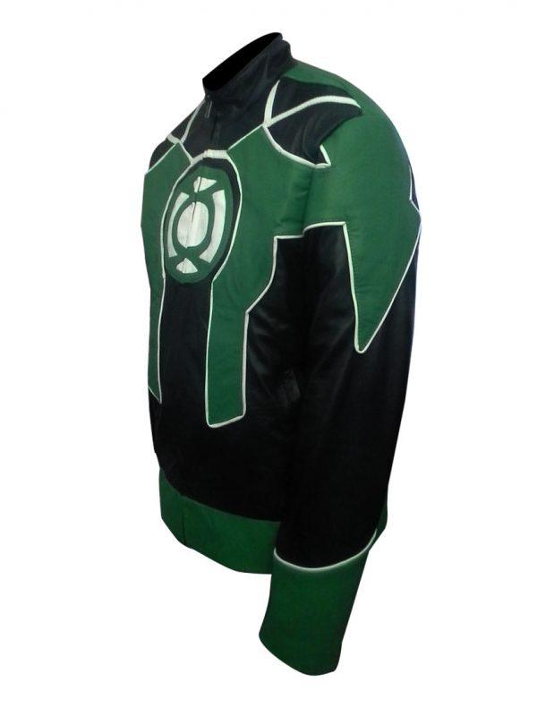 Green Lantern Cosplay Biker Leather Costume