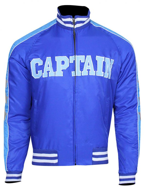 Suicide Squad Captain Boomerang Blue Satin Bomber Jacket
