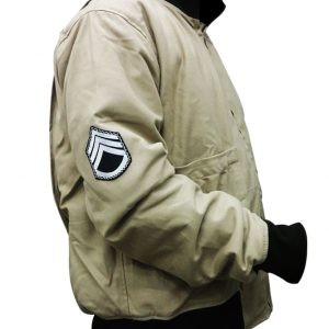 Brad Pitt Fury WW2 Kay Canvas Tanker Jacket