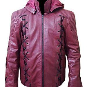 Arrow Season 3 Colton Haynes (Roy Harper) Red Leather Costume