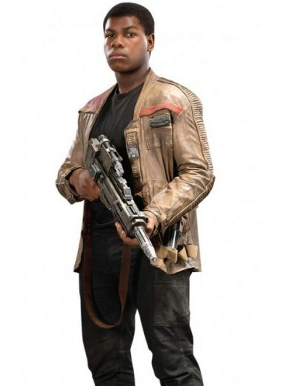 Men Star Wars The Force Awakens Finn Leather Jacket