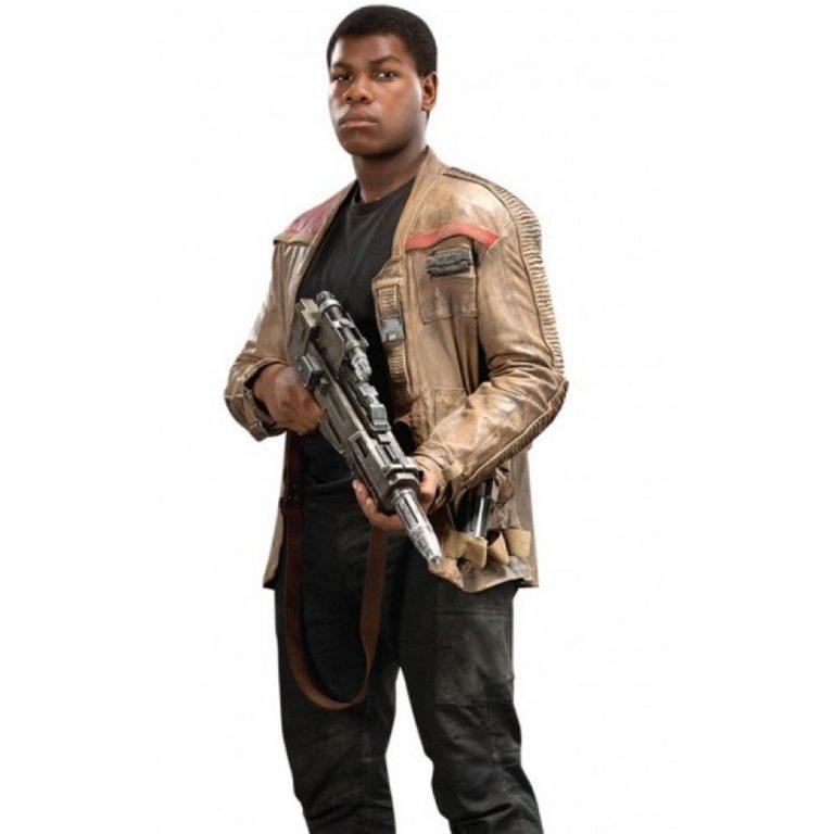 Men Star Wars The Force Awakens Finn Leather Jacket