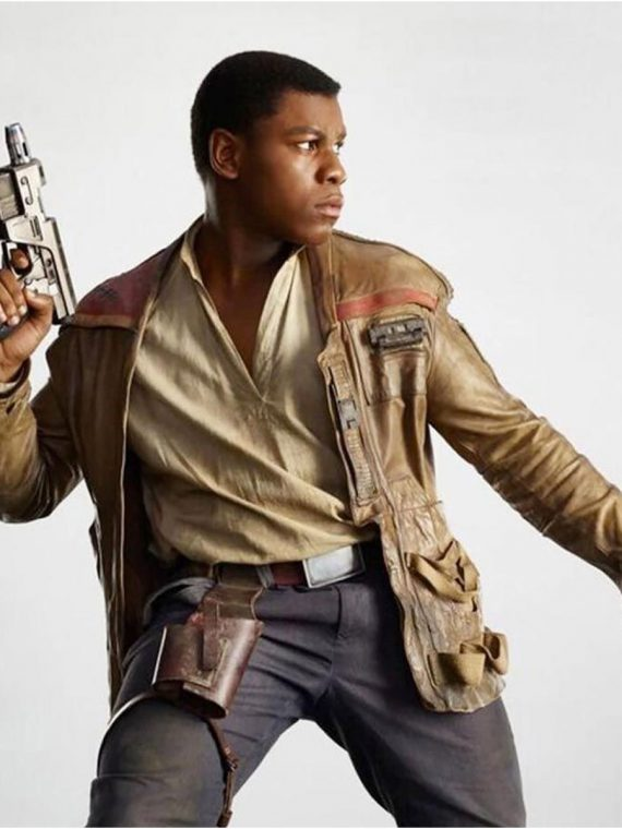 Star Wars Finn John Boyega Distressed Jacket