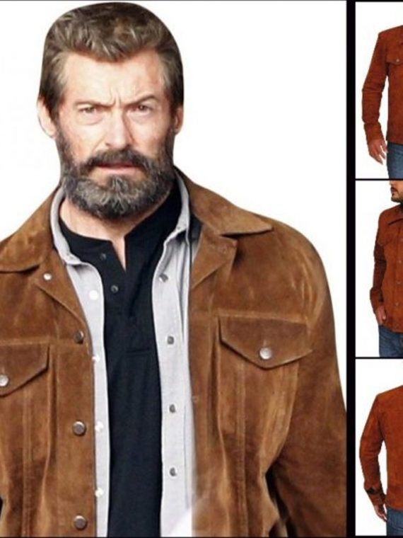 The Wolverine 3 Hugh Jackman Suede Brown Jacket