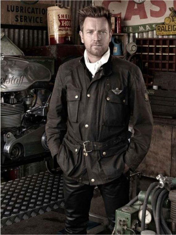 Ewan McGregor Goodwood Revival Festival Leather Jacket