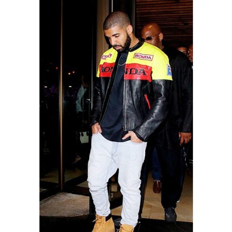 Aubrey Drake Graham Honda Biker Leather Jacket