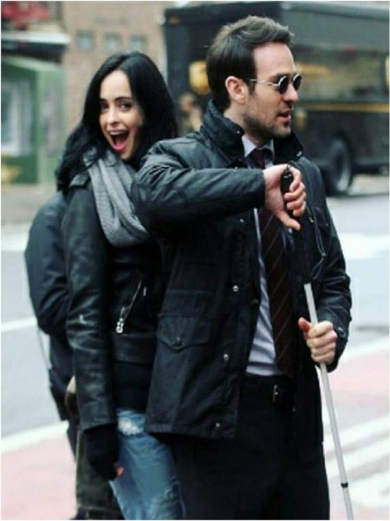 Charlie Cox (Matt Murdock) The Defenders Leather Black Jacket