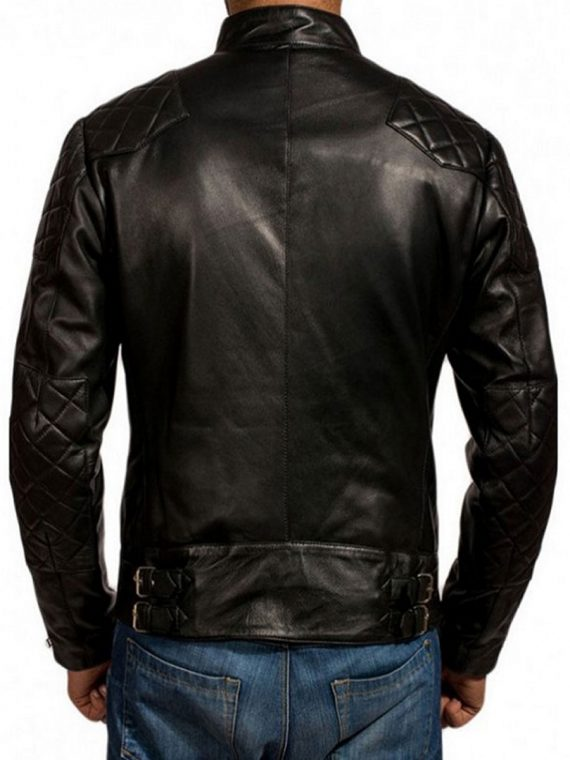 HANNIBAL TV SERIES MADS MIKKELSEN BLACK LEATHER JACKET