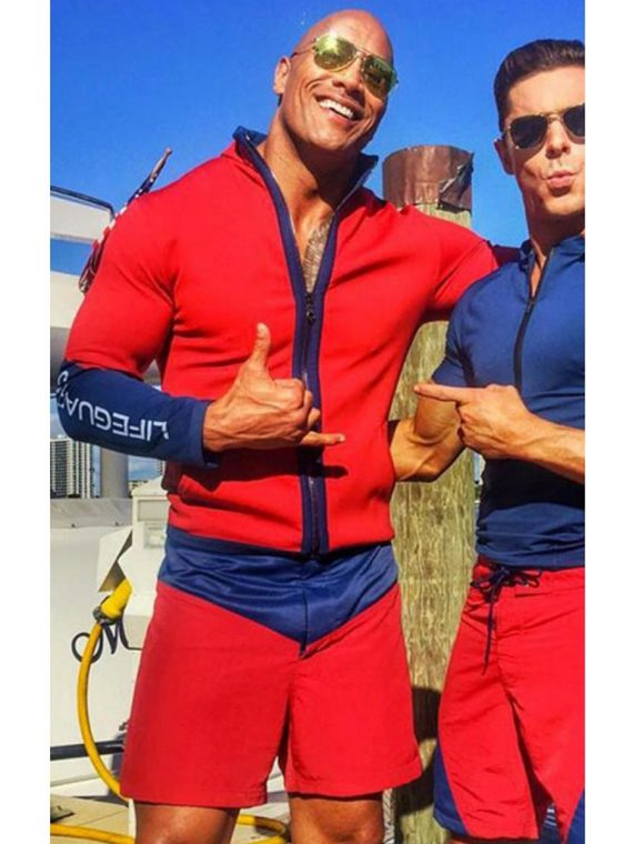 Baywatch Dwayne Johnson (Mitch Buchannon) Red Jacket