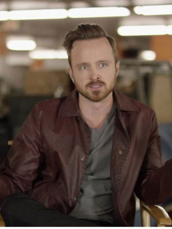 Central Intelligence Aaron Paul (Phil) Maroon Jacket Coat
