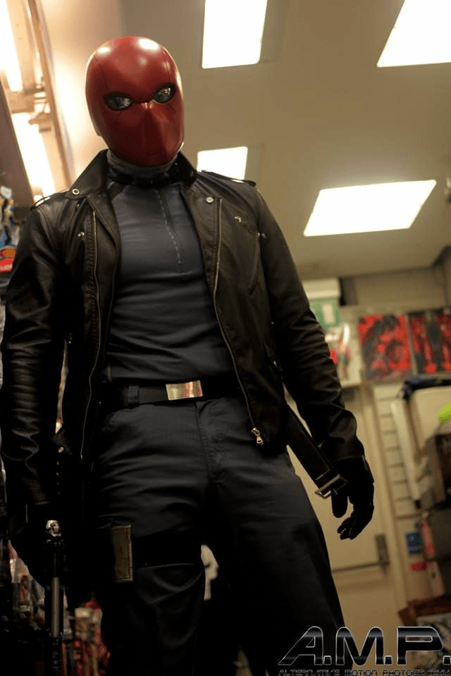 JASON TODD RED HOOD BLACK COSPLAY LEATHER JACKET