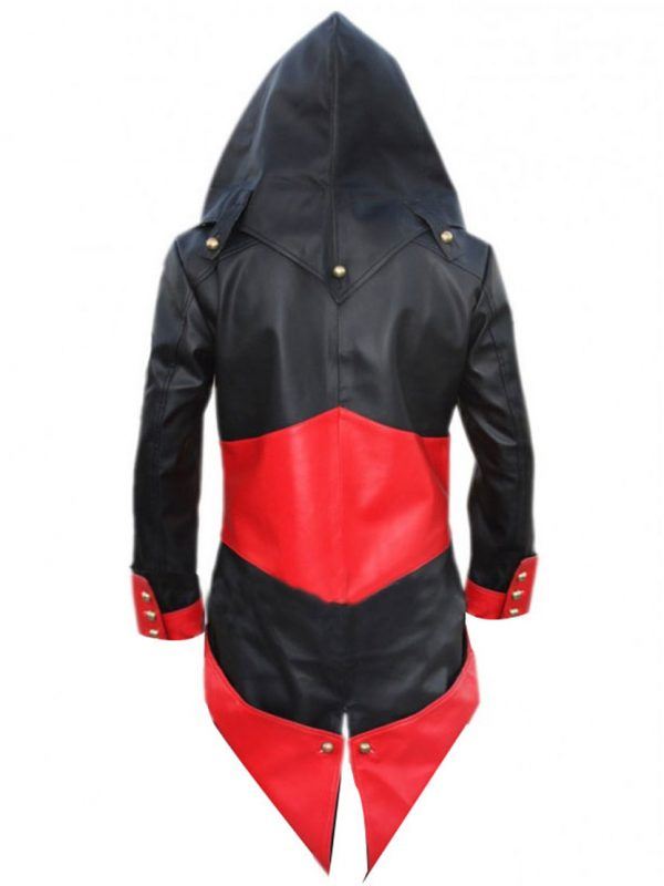 Assassin's Creed 3 Connor Kenway Hoodie Red/Black Leather Jacket