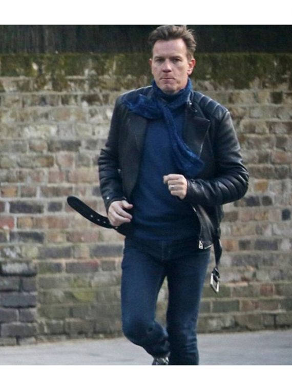 Ewan McGregor Mark Renton Biker Leather Jacket