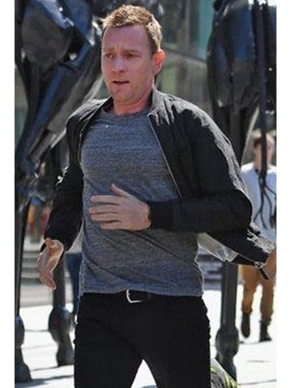 SAM WORTHINGTON BLACK BOMBER COTTON JACKET