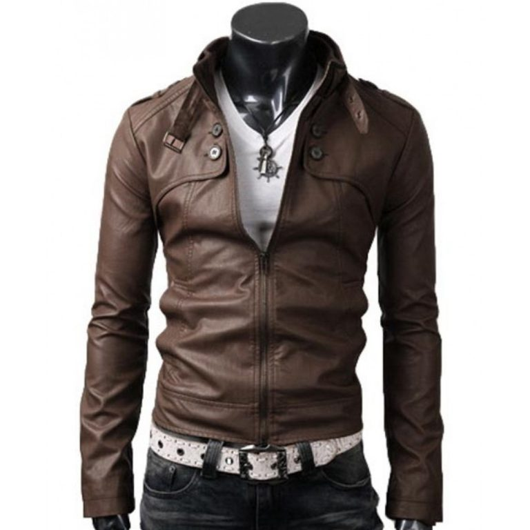SLIM FIT RIDER LIGHT BROWN DESIGNER JACKET